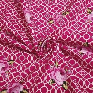 Dark-Pink-Lattice-Roses-Fenton-House-Fenton-House-100-Cotton-Fabric-Gutermann