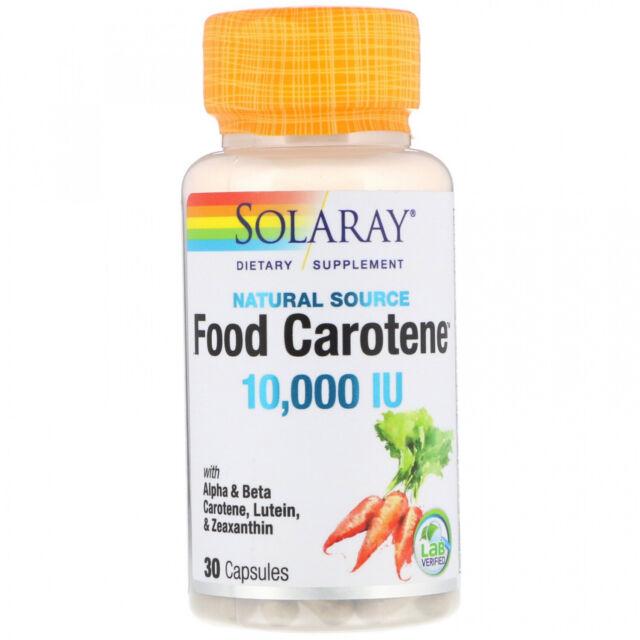 Solaray, Food Carotene, Natural Source, 10,000 IU, 30 Capsules