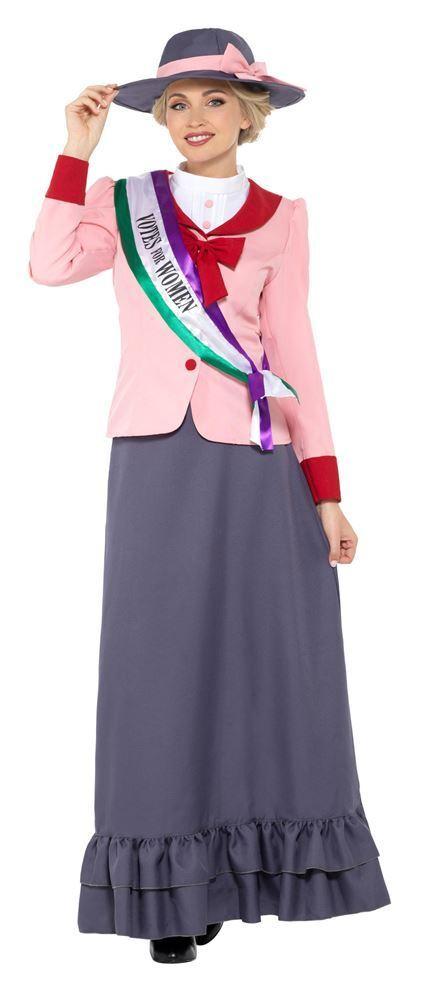 Deluxe Victorian Suffragette Costume, Historical Fancy Dress, UK Größe 12-14 DE | Auf Verkauf