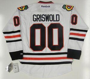 Image is loading CLARK-GRISWOLD-CHICAGO-BLACKHAWKS-REEBOK-NHL-PREMIER-JERSEY - 726cba711245