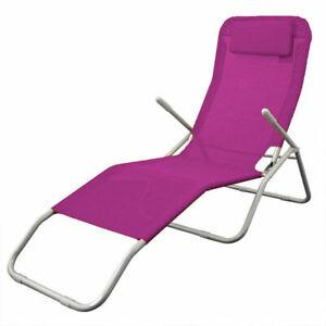 Relaxliege-mit-Kopfkissen-pink-Baederliege-Sonnenliege-Gartenliege-Liege-rosa