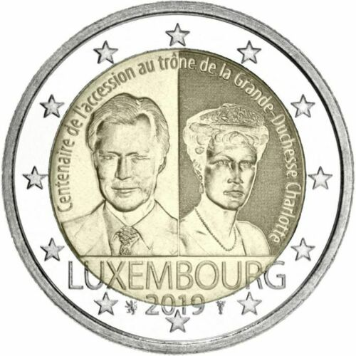 Grand Duchess Charlotte Unc 2 Euro Luxembourg 2019