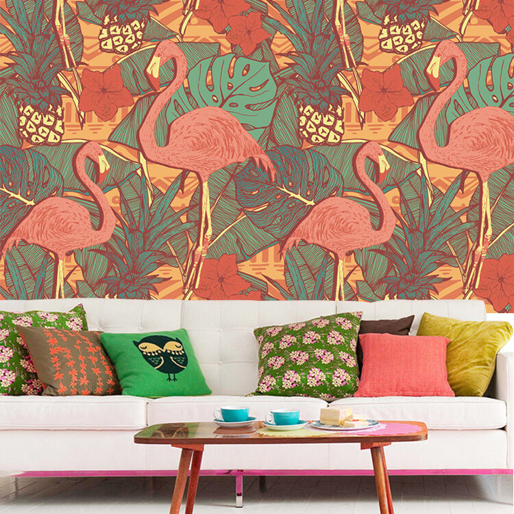 3D bird plant painting Wall Paper Print Decal Wall Deco Indoor wall Mural