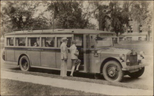 St. Paul MN Bus Twin City Motor Bus Co Close-Up c1920s Real Photo Postcard dcn