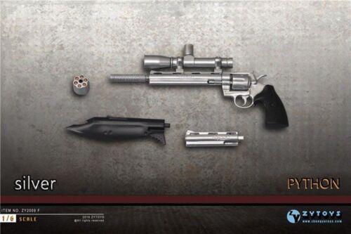 "1//6 PYTHON ZY2009F Black//Silver Gun Toy Model ZYTOYS F//12/"" Action Figure"