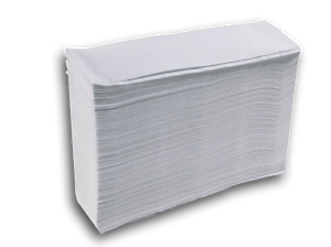 CASE OF 3000 2 PLY Z FOLD HAND TOWELS WHITE