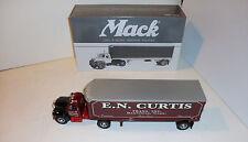 "First Gear Mack 1960 B-Model Tractor Trailer  ""E.N. Curtis"""