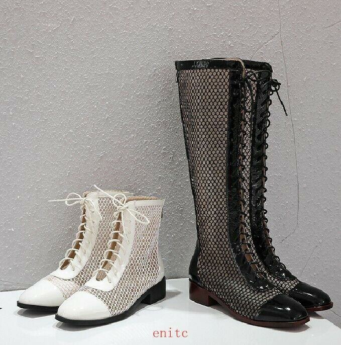 Fashion Womens Breathable Sandal Boots Lace Up shoes Knee High And Ankle Boots