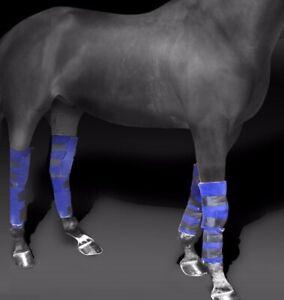 Freiheit Ice Wickel voller Bein Ice Boot Front/Hinterbeine Knie Hock ein einzelnes Pferd