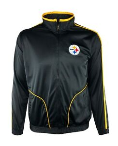 Image is loading Pittsburgh-Steelers-Full-Zip-Embroidered-Track-Jacket-NFL- fe91c5579