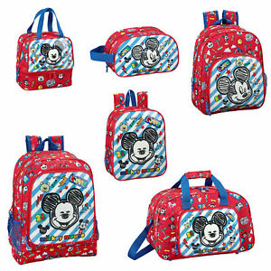 Image is loading Mickey-Mouse-Backpack-Kids-Travel-School-Bag-Rucksack-