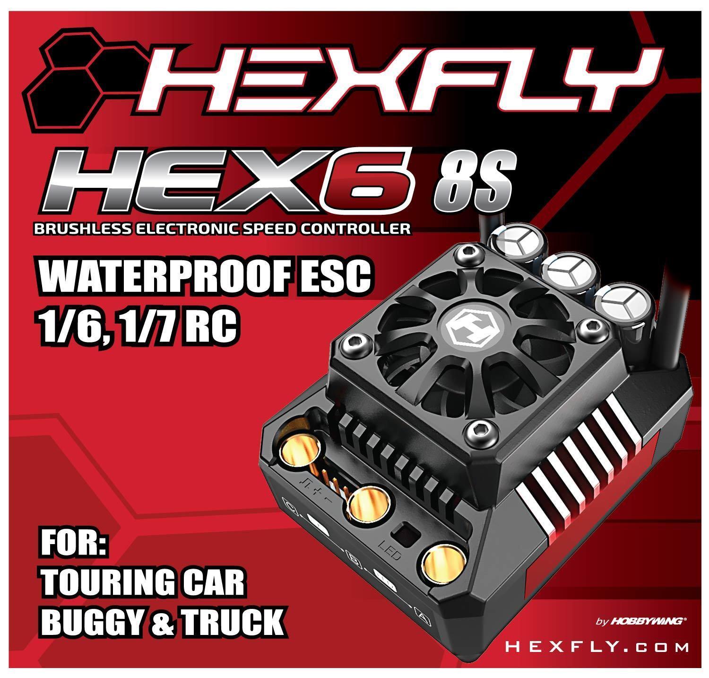 Hexfly Hobbywing HX-HEX6-160-8S 3-8S Lipo 160 AMP Impermeable Brushless Esc