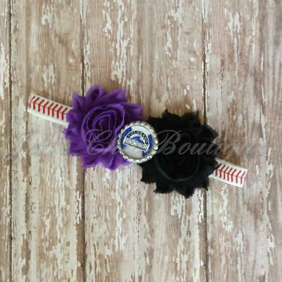 Los Angeles Dodgers baseball elastic infant toddler,or adult sized headband bow