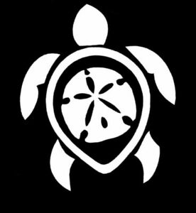 Sea Turtle And Sand Dollar Vinyl Decal Ebay