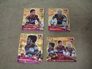 2007-RUGBY-LEAGUE-GOLD-TAZO-TEAM-SET-BRISBANE-BRONCOS