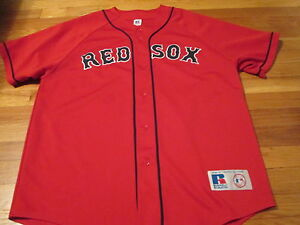 huge discount 01571 b0c65 Details about VINTAGE RUSSELL ATHLETIC MLB BOSTON RED SOX BASEBALL ALT RED  JERSEY SIZE XL