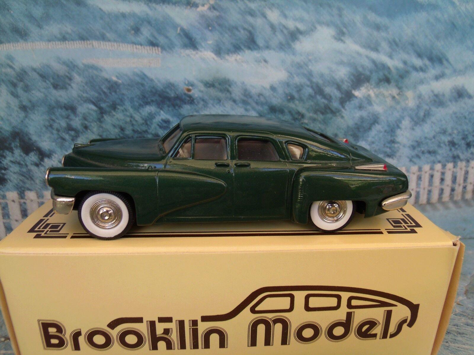1 43 Brooklin modelos (Inglaterra) 1948 Tucker Torpedo De Metal biancao BRK.2x