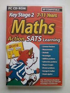2019 Nouveau Style Maths Action Sats Jeu éducatif 7-11 Ans Key Stage 2 Ks2 Ks Deux Pour Pc-afficher Le Titre D'origine