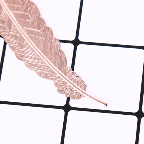 antique leaves feather shaped metal bookmark for books office school gift In AL