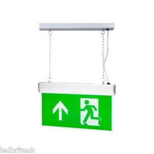 LED Emergency Hanging Down Sign 3Watts 3Hour Battery Back Up