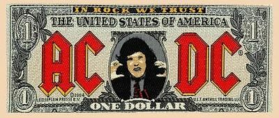 AC/DC - ACDC Bank Note Patch (Sew On Woven Patch 100% Official Brand New)