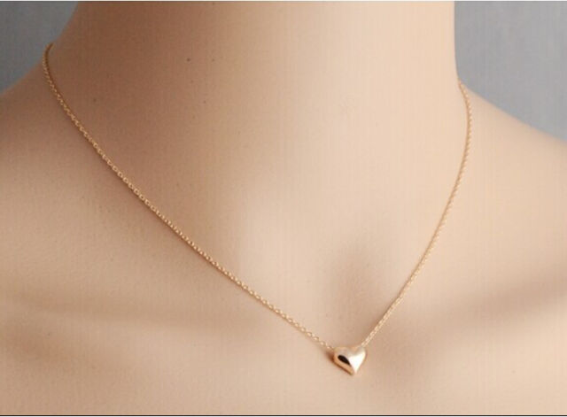 New Hot Womens Fashion Celeb Style Tiny Little Heart Love Gold