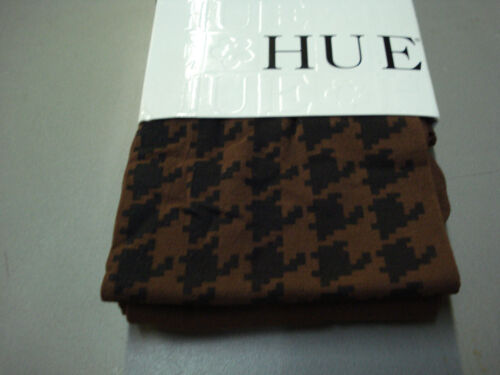NWT Women/'s Hue Printed Houndstooth Tights Size S//M Russet #442T