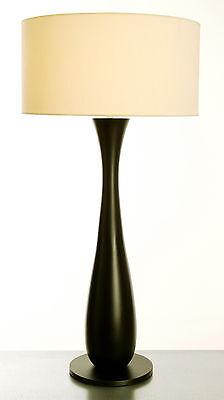 LAMPE de Salonde Bureau CONTEMPORAINE : Pied en BOIS TOURNE de Finition EBENE | eBay