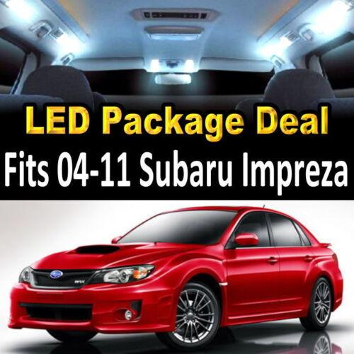 6x White LED Lights For Map Dome License Plate Trunk 2004-2014 Subaru Impreza #9