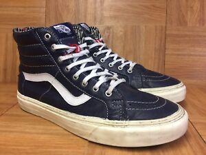 vans blue leather shoes