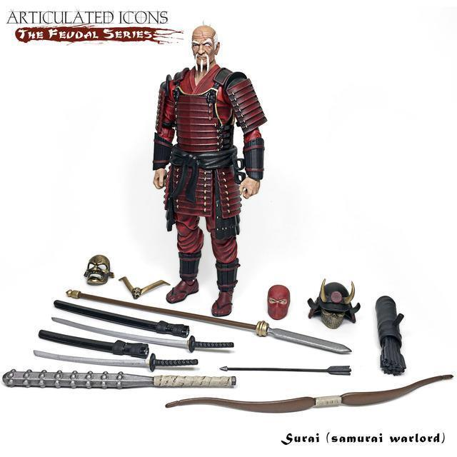Fwoosh Articulated Icons   The Feudal Series - Surai Samurai Warlord 6  Figure