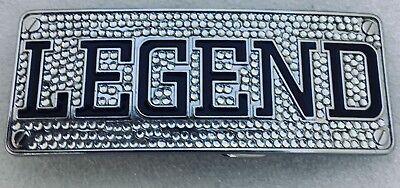 Legend Diamante Belt Buckle Biker Metal Gothic Mens Ladies Rhinestone UK Seller
