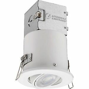 Lithonia 3 In White Led Recessed Directional Lighting Ceiling W Trim Light Kit