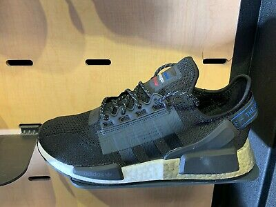Adidas Originals Nmd R1 V2 Black White Metallic Gold Size 8 13