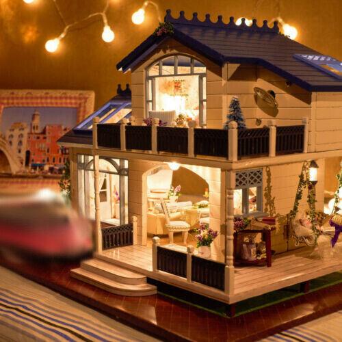 Hágalo usted mismo proyecto de artesanía en miniatura casa de Muñecas de Madera Villa Mi Lavanda Provence A