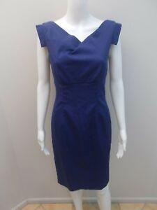 SABA-BLUE-CAP-SLEEVE-PENCIL-DRESS-SIZE-6-M984