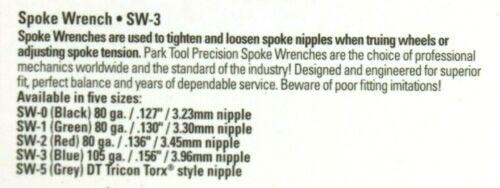 Park 4-Piece Spoke Wrench Set SW-0 SW-1 SW-2 SW-3 wheel Truing Nipple Tension