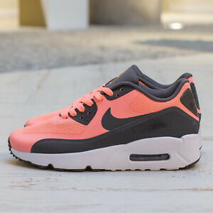 2a5232ece91d3 girls youth 4.5 wmns 6 air max 90 ultra 2.0 gs 869951-600 lava glow ...