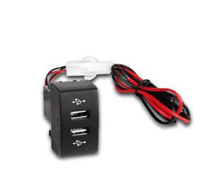 12V 24V Dash Dual USB Port Truck Charger Power Outlet for Scania P R G LED LIGHT