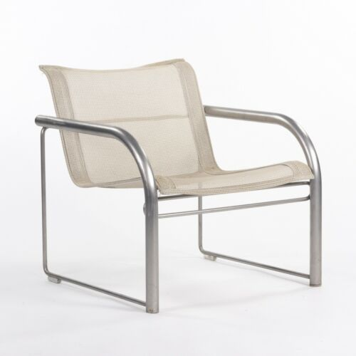 C. 1980 Prototype Richard Schultz for Knoll Stainless Steel & Mesh Lounge Chair