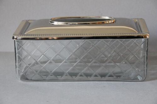 Kosmetiktücherbox Kosmetik Taschentuch Tissuebox Tissue Box Glas geschliffen