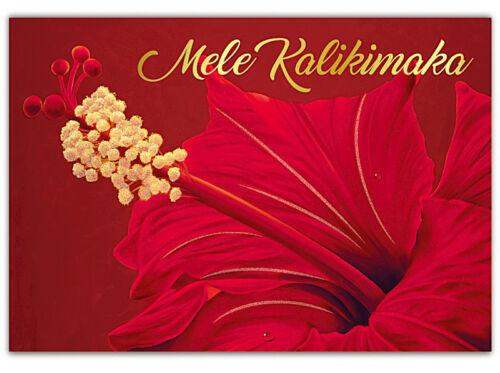 Envelope ONE Hawaiian Christmas Card Hibiscus Holidays Hawaii Mele Kalikimaka