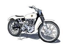 Tarjeta de felicitación, Sammy Miller's Ariel HT5 ensayos Bicicleta Gov 132, tamaño A5