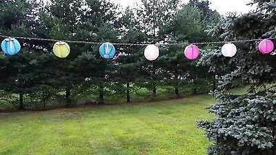10er-set Mehrfarbig Für Drinnen / Außen Mini Orientalischen Stil Nylon Laterne