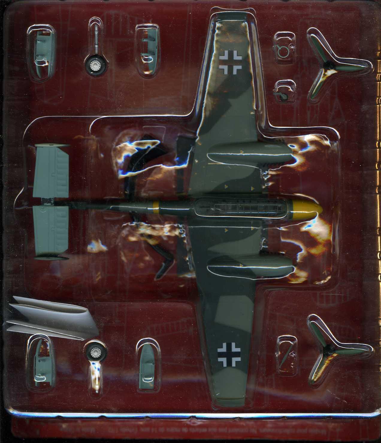 Aviones Die-cast Escala 1 72 avión de la segunda guerra mundial militar alemán Messerschmitt Bf-110