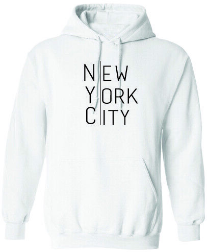 NEW YORK CITY HOODIE SWEATSHIRT MENS WOMENS FASHION HIPSTER TREND HOODY CASUAL