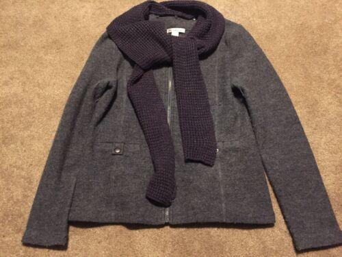 Grey Jakke Susan Large Cardigan Sweater Bristol 100 Up Kvinders Zip Uld Scarf Bx14EBwa