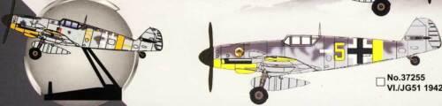 Easy Model Messerschmitt Me Bf109G-2 VI.//JG51 1942 Fertigmodell 1:72 Standfuß