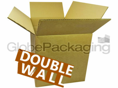 """60 X-LARGE DOUBLE WALL Cardboard Stock Boxes 30x18x12/"""" Removal Moving Storage"""