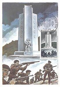 IndéPendant Carte Maximum Fdc France Les Combats Du Mont Mouchet Juin 1969 ArôMe Parfumé